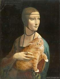 Pic #5 - Russian Artist Inserts Her Fat Cat Into Iconic Painting