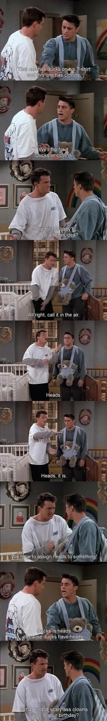 Pic #5 - The faultless logic of Joey Tribbiani