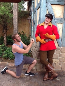 Pic #6 - Guy proposes to various Disney characters at Disney World