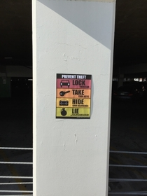 Pic #6 - I added some new anti-theft signs to a mall parking lot