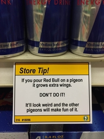Pic #6 - I added some shopping tips to a nearby grocery store