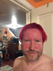 Pic #6 - My brother and dad made a bet dad lost had had to dye his hair