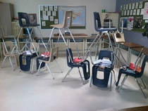 Pic #6 - My class decided to make little chair structures and it ended up escalating to something really big that everyone in the school knew about and ended up in the schools yearbook