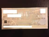 Pic #6 - My college roommates write me checks for utilities every month This is my collection for the year