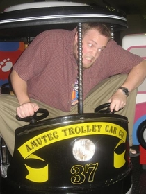Pic #6 - Over the past few years I have been cramming myself into small childrens rides at the mall