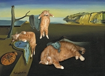 Pic #6 - Russian Artist Inserts Her Fat Cat Into Iconic Painting