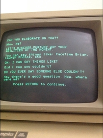 Pic #6 - This is what happens when Siri has a conversation with a more primitive AI program running on a -year-old Apple II