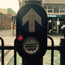 Pic #6 - Workmate put these stickers on crossing buttons around Melbourne