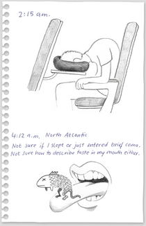 Pic #7 - A visual diary documenting a flight from NY to Berlin with a stopover in London
