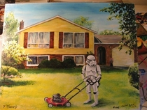 Pic #7 - Artist takes thrift store paintings and adds his personal touch