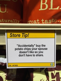 Pic #7 - I added some shopping tips to a nearby grocery store