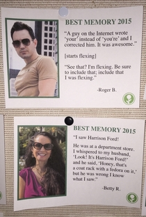Pic #7 - I wrote some fake Best Memories of  and left them on a community bulletin board