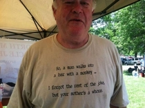 Pic #7 - Old people wearing funny shirts