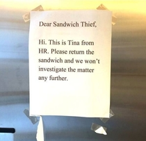 Pic #7 - Sandwich Thief