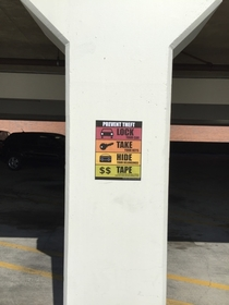 Pic #8 - I added some new anti-theft signs to a mall parking lot