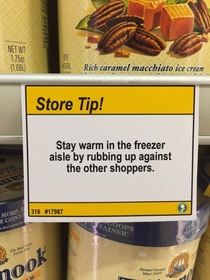 Pic #8 - I added some shopping tips to a nearby grocery store