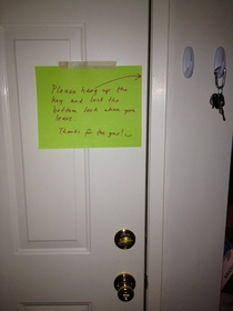 Pic #8 - I wasnt home when a dude fixed my water heater I hope he liked the surprise