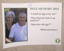Pic #8 - I wrote some fake Best Memories of  and left them on a community bulletin board