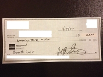 Pic #8 - My college roommates write me checks for utilities every month This is my collection for the year
