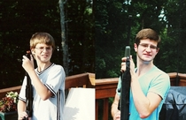 Pic #9 - For my dads th birthday my siblings and I recreated a few old family photos Enjoy