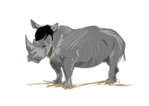 Picture I did of Rihanna as a Rhino Rihanno Rhiannosomething like that