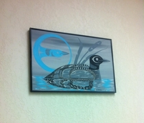 Picture of a loon in a lawyers office looks as if its having Vietnam flashbacks