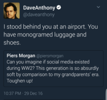 Piers Morgans hypocrisy called out by Dave Anthony