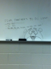 Pink Panthers to do list