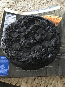 Pizza cooked   for  hours