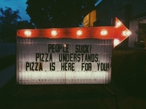 Pizza has your back