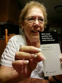 Playing Cards Against Humanity at Thanksgiving with your gradma has its risks