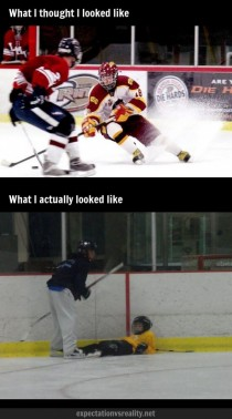 Playing hockey as a kid