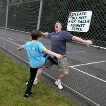 Please Do Not Kick Balls Against Fence