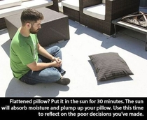 Plumping your pillow