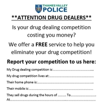 Police Are your drug dealing competition costing you money
