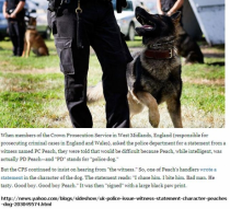 Police dog success narrated to perfection