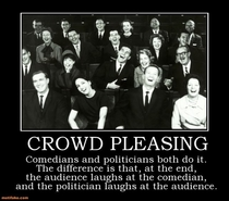 Politicians and comedians--compare amp contrast