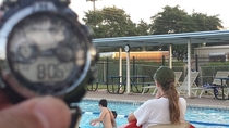Pool closes at pm Kids changed the clock  minutes back while life guards didnt notice