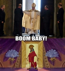 Pope Francis is groovy