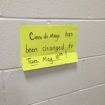 Posted last year at the school where I work