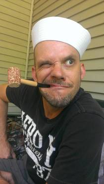 Practicing my Popeye for bachelorette party my wife is planning she wanted a dancing sailor