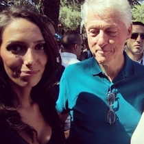 President Clinton didnt realize my friend was taking a selfie with him