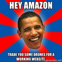 President Obama after seeing Amazons announcement