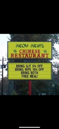 Pretty generous of them to offer a free meal after my wife and gf have trashed the place