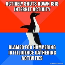 Pretty much every comment you see when Anonymous actually acts against ISIS