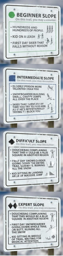 Pretty much sums up all ski trails