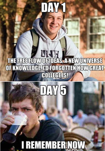 Pretty much sums up my first week of Grad school