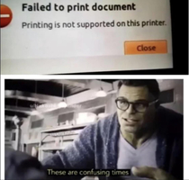 Printing is not supported on this printer