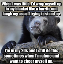 Probably the lamest and most tame confession bear I refer to this as The Caterpillar Challenge