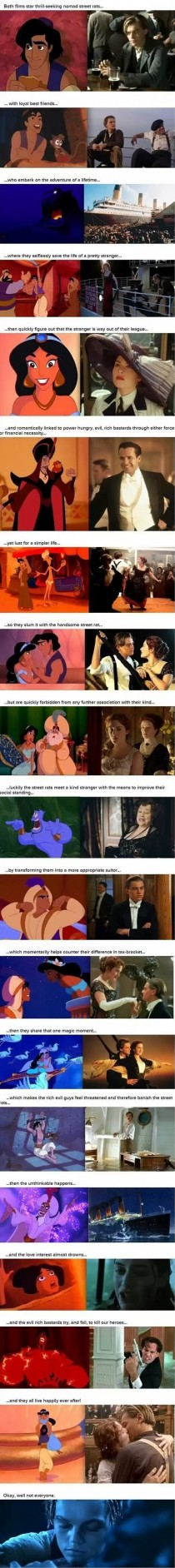 Proof that Aladdin and Titanic are basically the same movie